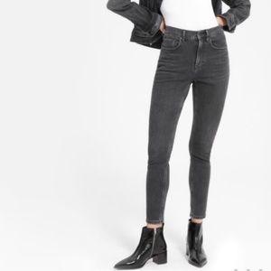 Everlane Wash Black High Rise Skinny Ankle Jean 28